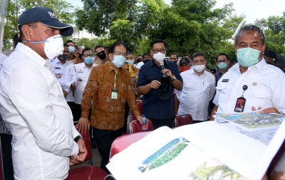 Gubsu dan Menteri ATR Tinjau Lokasi Sport Centre Sumut
