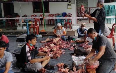 Masjid Nurussalam Laksanakan Penyembelihan 22 Hewan Kurban