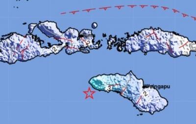 Warga Sumba Barat Daya Rasakan Gempa Kuat 3 Detik