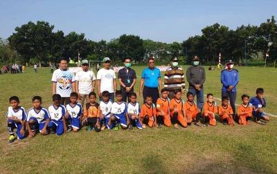Pulang ke Bandar Setia, Andi Lestari Buka Turnamen Sepak Bola U-11