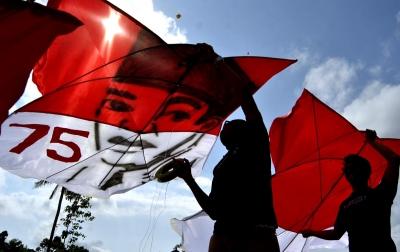 Foto: Layang-Layang Bernuansa Kemerdekaan