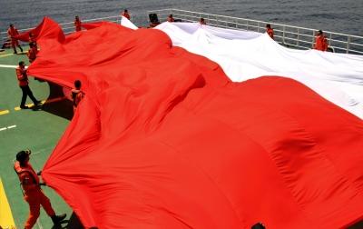 Foto: Pembentangan Bendera Merah Putih