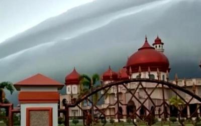 Fenomena 'Awan Tsunami' di Aceh Akibat Dinamika Atmosfer
