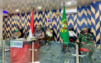 Pemko Medan Bersama TNI/Polri Gencar Razia Masker