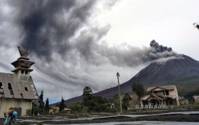 Terus Erupsi, Status Gunung Sinabung Masih Siaga