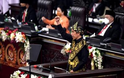 Foto: Pidato Kenegaraan Presiden Joko Widodo