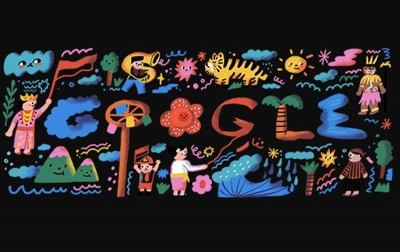 Google Doodle Meriahkan Hari Kemerdekaan Republik Indonesia