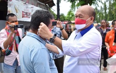 PTPN II Bagikan 5.000 Masker Merah Putih Kepada Masyarakat