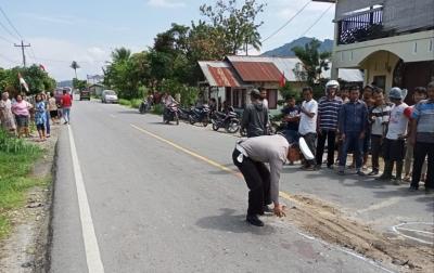 Kecelakaan di Siatas Barita, Pengendara Sepeda Motor Tewas