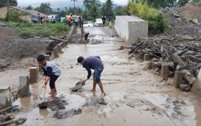 Banjir Lahar Dingin di Kecamatan Tiganderket, Warga Diimbau Waspada