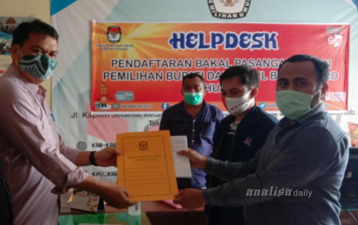 KPU Karo Baru Terima Satu Berkas Perbaikan Bapaslon