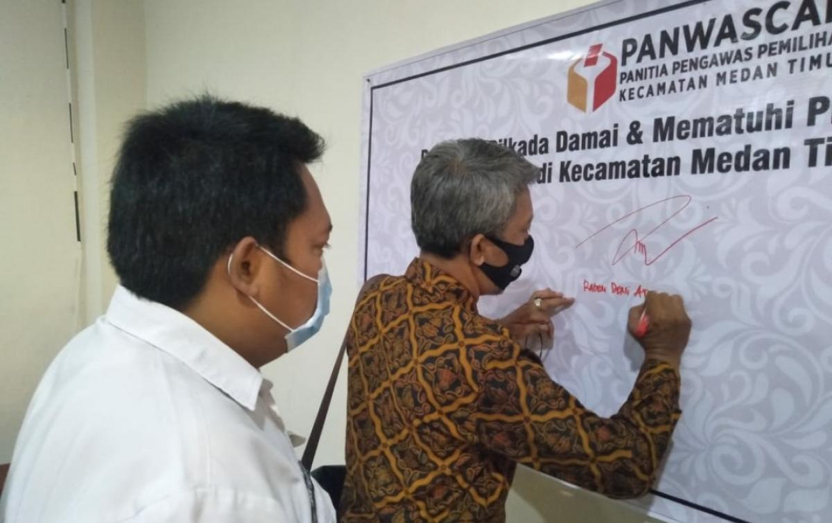 Panwascam Medan Timur Gelar Sosialisasi Pengawasan Partisipatif
