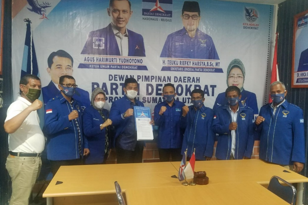 Tondi Roni Tua Diangkat Jadi Plt Ketua Partai Demokrat Palas