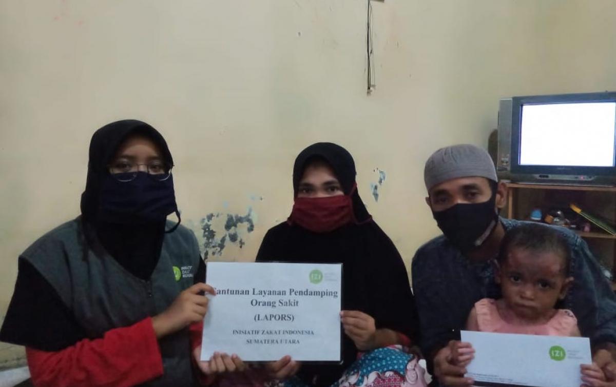 IZI Sumut Berikan Bantuan Kepada Gadis Kecil Penderita Penyakit Kulit