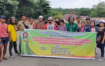 LPPM USU Sosialisasi Sadar Wisata Peduli Lingkungan di Bukit Lawang