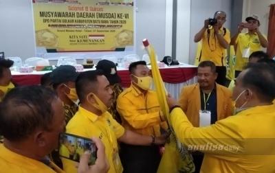 Aklamasi, Ismar Khomri Jadi Ketua DPD Golkar Batu Bara