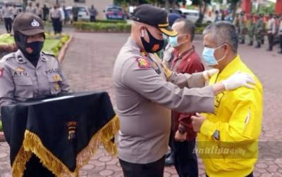 Polres Asahan Bagikan 40 Ribu Masker