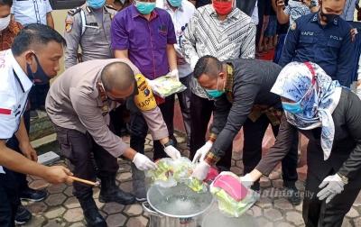 Polres Tanjungbalai Musnahkan Barang Bukti Narkoba
