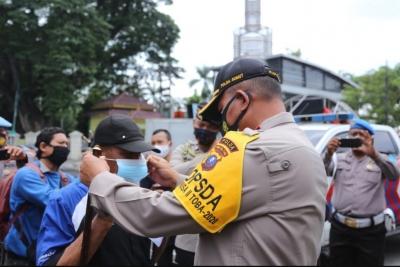 Kapolda Sumut Tinjau Operasi Yustisi di Lapangan Merdeka