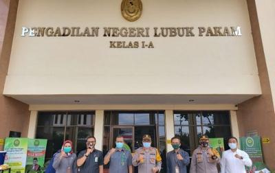 Polresta Deli Serdang Koordinasi dengan PN Lubuk Pakam