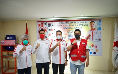 Bobby Nasution Dikukuhkan Sebagai Relawan PMI Medan