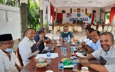 Jelang Musorkablub, Bupati Palas Koordinasi dengan KONI Sumut