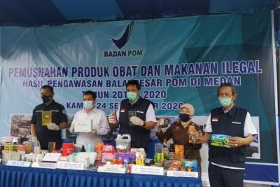 BPOM Medan Musnahkan Makanan dan Obat Ilegal Senilai Rp 3 Miliar