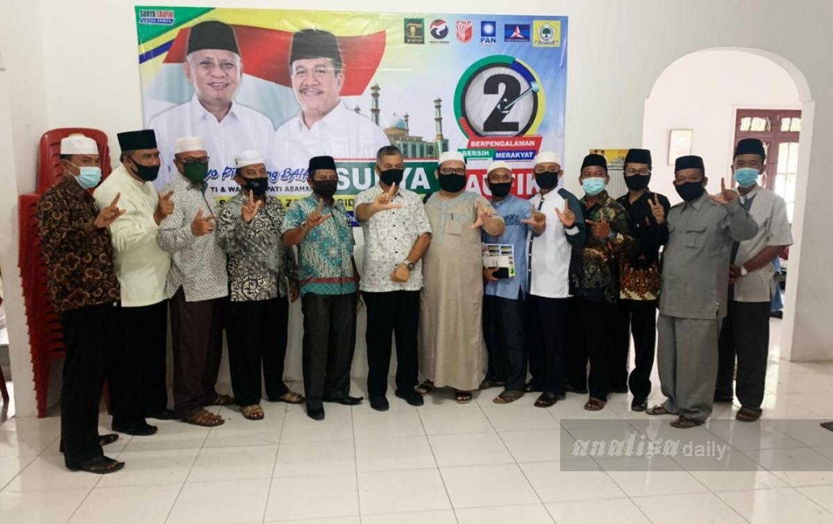 Para Ustaz Siap Menangkan Surya-Taufik di Pilkada Asahan