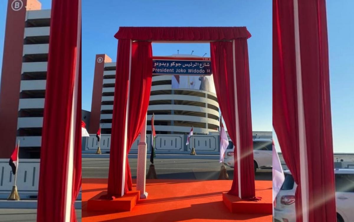 Presiden Joko Widodo Diabadikan Sebagai Nama Jalan di Abu Dhabi