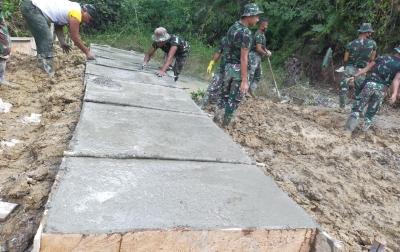 TMMD Tarabintang, Letkol Roni: Progres Pekerjaan Capai 80 Persen