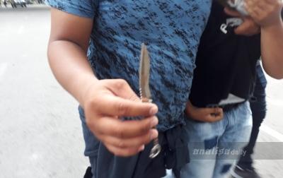 Polisi Temukan Senjata Tajam dari Pendemo di Kantor DPRD Sumut