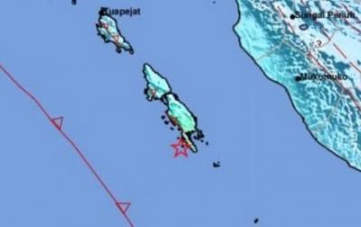 Warga Kepulauan Mentawai Rasakan Guncangan Kuat Gempabumi M5,8
