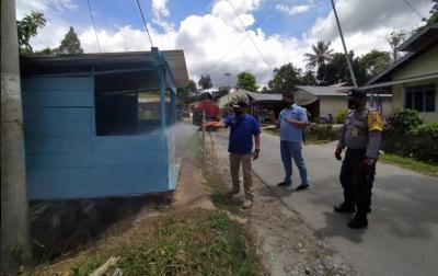 Cegah Corona, Desa Hutatinggi Disinfektasi