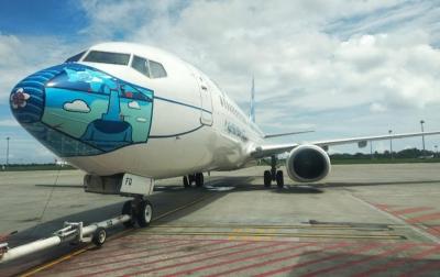Garuda Bermasker Desain Terbaru Mendaratdi KNIA