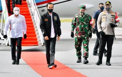 Jokowi Kunjungi Humbahas, Gegana Polda Sumut Lakukan Sterilisasi