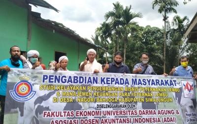 Fakultas Ekonomi UDA dan Asosiasi Dosen Akuntansi Indonesia Pengabdian Masyarakat di Simalungun