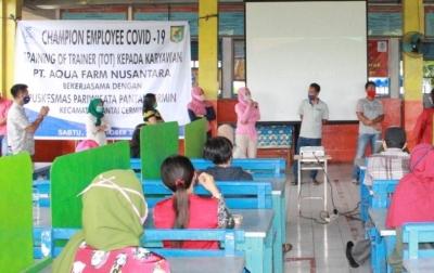 Aqua Farm Nusantara Latih Karyawan Menjadi Penggerak Edukasi Covid-19