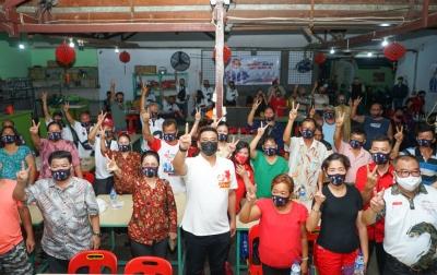 Masyarakat Tionghoa Jalan AR Hakim Bertekad Menangkan Bobby