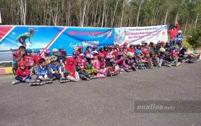 Puluhan Atlet Perserosi Latihan di Alun-alun Kisaran