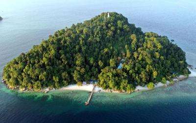 Foto: Pulau Berhala di Selat Malaka