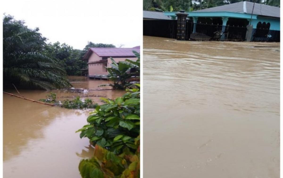Banjir Landa Batang Serangan, 1.078 Rumah Terendam