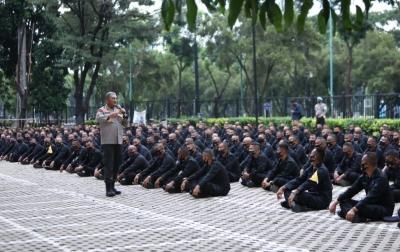 Kapolda Sumut Beri Arahan Kepada Brimob yang BKO ke Jakarta