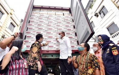 Wamen Perdagangan dan Gubsu Lepas Ekspor Produk Singkong dan Sarang Burung Walet