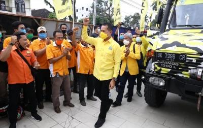 Ijeck Langsung Kunjungi Kantor DPD Golkar Sumut saat Tiba di Medan