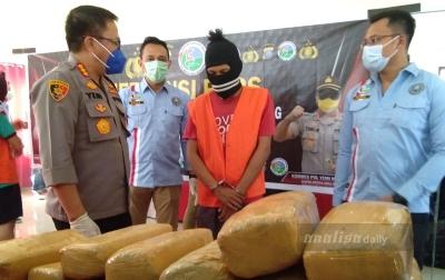 Bawa Ganja dari Aceh, Seorang Kurir Ditangkap di Tanjungmorawa