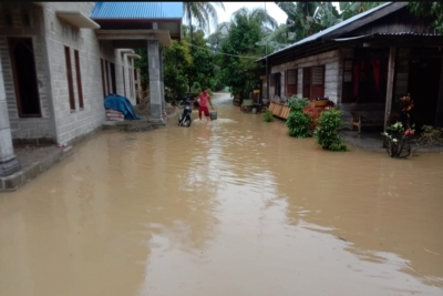 Sungai Tenang Meluap, Dua Kecamatan di Langkat Terendam Banjir