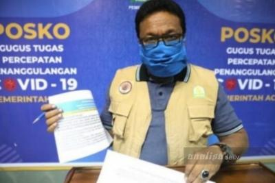 Kasus Covid-19 di Aceh Kian Turun, Pasien Sembuh Lebih Banyak