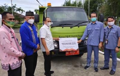 Pemkab Batubara Terima 1 Unit Truk Pengangkut Sampah dari Inalum