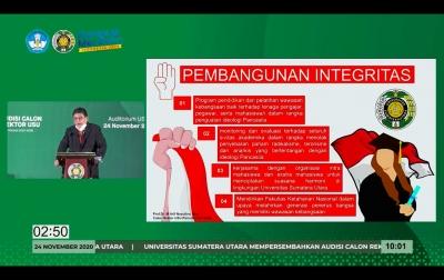 Pembangunan Integritas Program Unggulan Calon Rektor USU Prof Arif Nasution