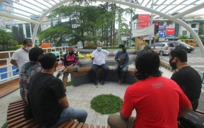 Ngobar Bersama Wartawan, Akhyar-Salman Tidak Akan Beli Suara Masyarakat